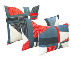 Abstract Square Cushion: Red, Navy, Bluehttp://www.tamasyngambell.com/collections/cushions