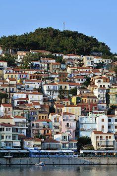City of Plomari in Lesvos Island_ Greece