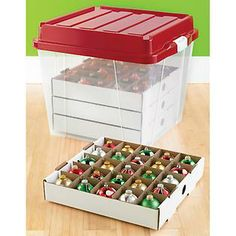 Rubbermaid Christmas Ornament Storage Extraordinary Showoff Ornament Box  Set Of 4  Green #targetawesomeshop Design Inspiration