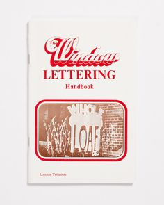"""Lonnie Tettaton is a legend of American sign painting and hand lettering. He made a living painting signs and teaching classes in St. Louis, Missouri. His many publications served as curriculum for his students in the '80s and '90s, and now they're practical materials turned relics.With The Window Lettering Handbook, you learn to letter with confidence. In his introduction, Tettaton says you ought """"never be afraid to tackle any window job."""" He says you must simply practice to get better…"""