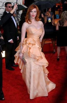 Christina Hendricks Photos - 67th Annual Golden Globe Awards - Arrivals - Zimbio