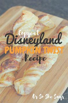 Copycat Disneyland Pumpkin Twist Recipe (she: Adelle)