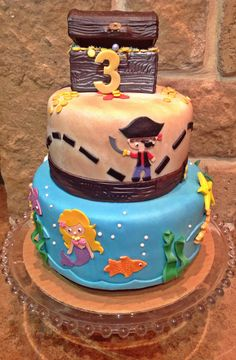 Too Sweeties Bake Shoppe... Mermaid and Pirate birthday cake.