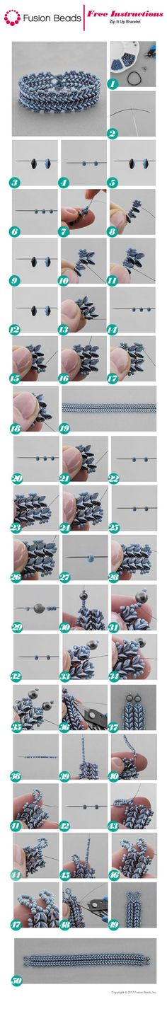 Use the fun Duets SuperDuo seed beads to create our new beadwoven Zip It Up bracelet design! It's the perfect bracelet to wear with your denim this season!