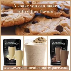 Chocolate Chip Cookie Dough Shakeology — Exercise To Eat. Chocolate Shakeology or Vanilla Shakeology!