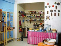 İnside of my pottery studio.