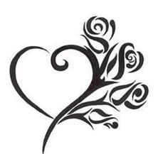 Tribal Heart Tattoos, Simple Heart Tattoos, Heart Tattoo Designs, Tattoo Designs For Women, Tattoos For Women, Heart Designs, Stencils Tatuagem, Tattoo Stencils, Body Art Tattoos