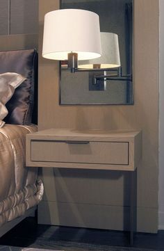 Image result for floating nightstand with light