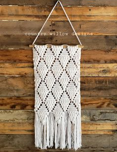 Crochet Wall Hanging is designed to be a fun project. It was designed with popcorn stitches to give this project lots of texture. Make Your Own, Make It Yourself, How To Make, Crochet Wall Hangings, Crochet Patterns, Crochet Stitches, Crochet Scarves, Crochet Hats, Making A Gift Basket