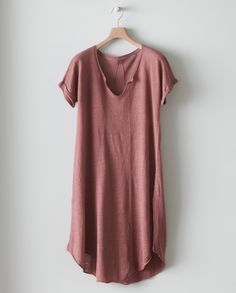 Image of Linen Trapeze Knitted Henley