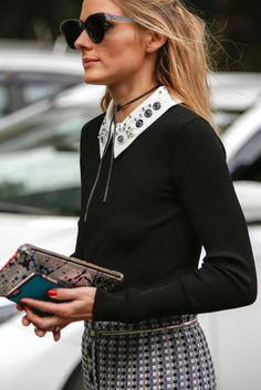 Olivia Palermo in Milan Fashion Week Olivia Palermo Outfit, Estilo Olivia Palermo, Olivia Palermo Style, Work Fashion, Fashion Looks, Printemps Street Style, Look Star, Look Formal, Diy Mode