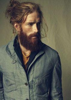 Image result for long hair beard styles