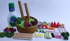 Chef's Salad Play Food Set Felt Food Set Felt Food