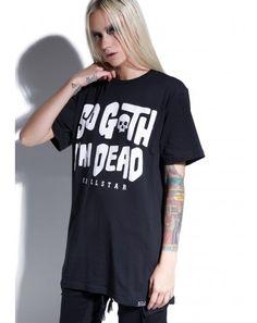 #DollsKill #lookbook #photoshoot #model #Killstar #so #goth #tshirt #black #tee #shirt #im #dead