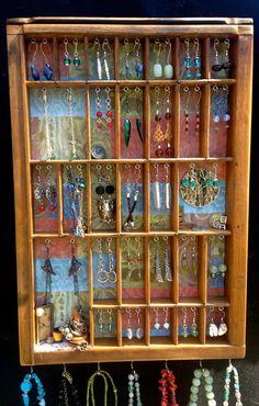 Jewelry Organizer & display. Earring Holder. by BizarreIntentions, $88.00
