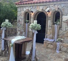 Location Branch Centerpieces, Greek Wedding, Weeding, Altar, Special Occasion, Wedding Decorations, Flowers, Photography, Wedding Decoration
