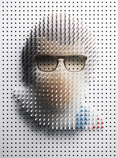 Steve McQueen Pin Art by Philip Karlberg Point Of Sale, Shooting Photo, Pin Art, Celebrity Portraits, Steve Mcqueen, Art Graphique, Famous Faces, Creative Photography, Photography Projects