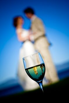 wedding photo by Ben Chrisman Photography, couple, reflection