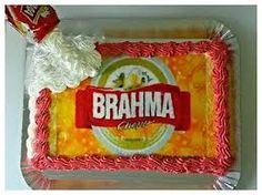 Resultado de imagem para bolo  com decoraçao da cerveja brahma
