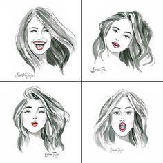 """Selfie"" print by Lauren Taylor Creates"
