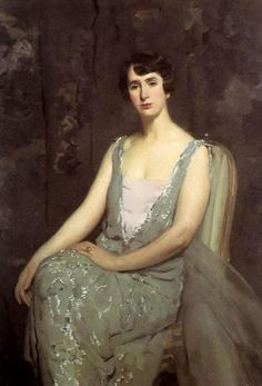 ▴ Artistic Accessories ▴ clothes, jewelry, hats in art - Anthony Ambrose Alciati | Portrait in Green Dress