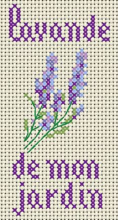 Lavender from my garden cross stitch Free Cross Stitch Charts, Cross Stitch Cards, Cross Stitch Flowers, Cross Stitching, Ribbon Embroidery, Cross Stitch Embroidery, Embroidery Patterns, Modern Cross Stitch Patterns, Cross Stitch Designs