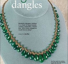 Green necklace - 1 / biser.info - all about beads and beaded works