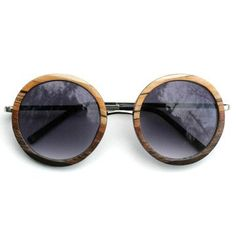 Round sunglasses, print