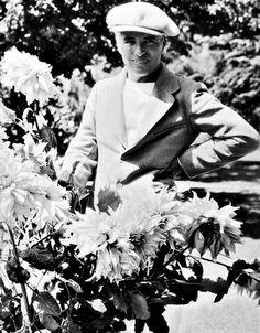 Charlie Chaplin circa 1935 - on the grounds of Chaplin Studios.
