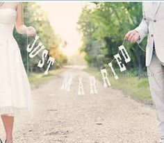 """78.7inch """"Just Married"""" Wedding Garland Bunting Banner Party Photo Props Decors #no"""