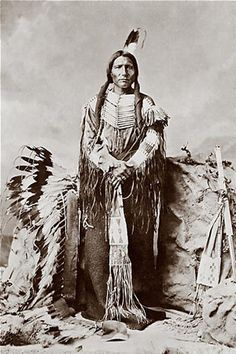 Chief Crazy Horse, my great grandfather was an agent on the reservation for the Sioux Indians and I have a photograph of me sitting in front of my grandmothers house with the war bonnet to the left of Chief Crazy Horse on.  I still can remember how heavy it was