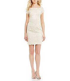 4aae9450 Adrianna Papell Off the Shoulder Lace Dress #Dillards Shower Dresses, Mob  Dresses, Adrianna