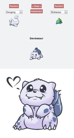 Dewbasaur | 43 Pokemon Mash-Ups That Are Better Than The Real Thing i am being overwhelmed by pure cute