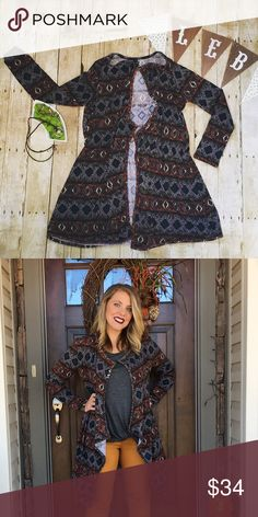 Aztec Cardigan Soft, stretchy, comfy, and goes with EVERYHING! Sweaters Cardigans