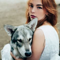 Girl wolf by Jovana Rikalo - Photo 179517331 / Wolf Pictures, Pictures Of People, Wild Photography, Animal Photography, Wolf People, Wolves And Women, Silhouette Painting, Beautiful Wolves, Couple Illustration