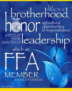 Hahaha , I love it when new members attend FFA meetings and are so confused when we do this