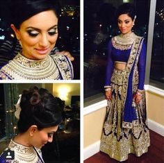 Instagram: sawpages Makeup: dolledupbylulu Beautiful blue and silver lehenga