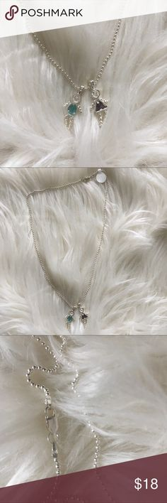 """NWT Sterling silver boy girl necklace Gorgeous Sterling silver boy and girl necklace 17"""" long. Jewelry Necklaces"""