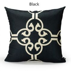 Black and white throw pillow Geometric design couch cushions simple style