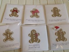 Hand made Gingerbread man cards