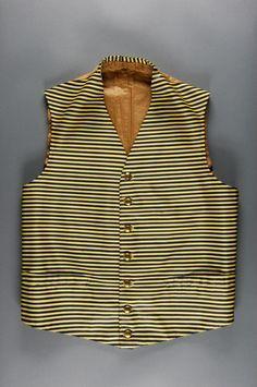 stripy livery waistcoat