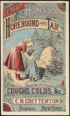 Vintage Labels Hale's Honey Horehound and Tar cures coughs, colds, Vintage Labels, Vintage Ephemera, Vintage Signs, Vintage Ads, Vintage Images, Vintage Prints, Vintage Posters, Weird Vintage, Old Advertisements