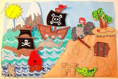 pirate quiet book page