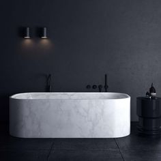 adds marble bath to to collection. adds marble bath to to collection Dark Bathrooms, Bathroom Taps, Bathroom Ideas, Natural Bathroom, Luxury Bathrooms, Bathroom Designs, Contemporary Bathrooms, Beautiful Bathrooms, Master Bathroom
