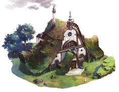 elf house by sehee park on ArtStation.