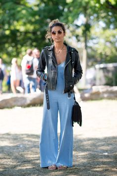 d475b3e20681 The Best Street Style From Governors Ball - ELLE.com Flared Jumpsuit