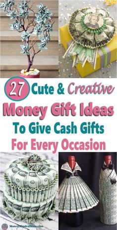 Best Pics Money Gift Ideas: 27 Creative Cash Gift Ideas For Any Occasion Suggestions when buying special wedding presents for newlyweds, special presents that can be located for years Wedding Presents For Newlyweds, Wedding Gifts, Creative Money Gifts, Creative Ideas, Money Gifting, Gift Money, Money Balloon, Unique Gifts, Diy Gifts
