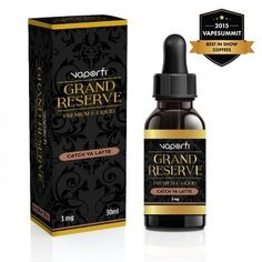 VaporFi Grand Reserve Catch Ya Latte 30ml - Coffee connoisseurs take their coffee very, very seriously, and for those of you who drink only the best, this deliciousness was crafted with you in mind! Imagine fresh brewed espresso poured over the finest crushed hazelnuts, finished with a rich swirl of brown-butter caramel, creating an authentically sophisticated, lush, velvety latte.70% VGShips from VaporFi - Florida