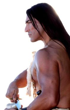 Native American Man - beautiful  (OMGosh!!!! I have never seen such a beautiful sight!!!!! wish I could see his face!)
