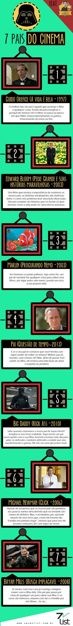 #Sevenlist #Infografico #Design #Cinema #Filmes #Personagens #Pais #Diadospais